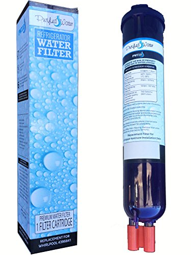Purified Water Refrigerator Water Filter Replacement, Compatile with Whirlpool PUR Push Botton 4396841, 4396710, Pur Filter3 Models (Refrigerator Filter 4396711 compare prices)