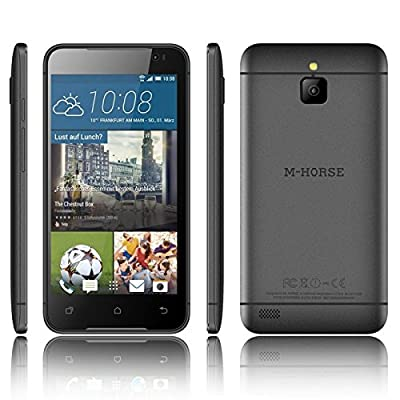 "M-Horse 5"" screen 1.3 Quad Core High Performance Dual SIM Smart Phone (Black ) A9"