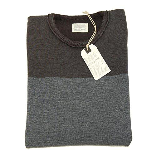 7365F maglione tortora grigio bluette PAOLO PECORA BASIC LANA maglia uom [S]