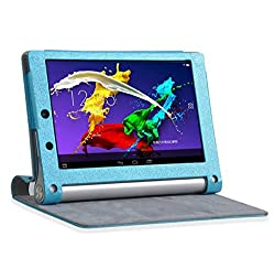 SPL PU Leather Book Stand Cover for Lenovo Yoga 2 8-inch Tablet -Sky Blue