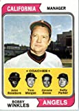 1974 Topps #276 Angels Mgr./Coaches California Angels Baseball Card In A