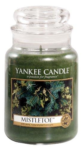 Yankee Candle Large 22-Ounce Jar Candle, Mistletoe
