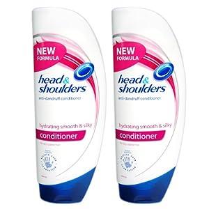 2x Head & Shoulders hydrating Smooth&Silky Haar Pflegespülung/ Conditioner, je 400ml für trockenes, krauses Haar