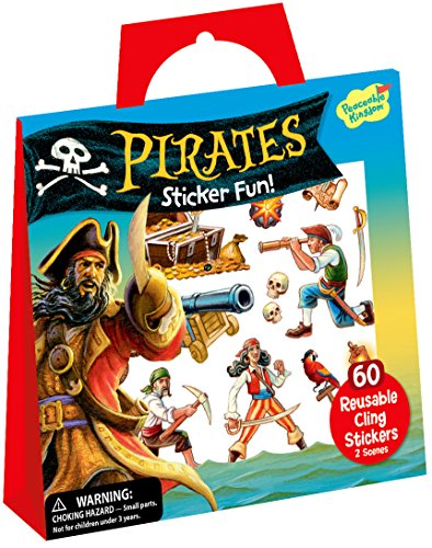 Peaceable Kingdom Sticker Fun! Pirates Reusable Sticker Tote