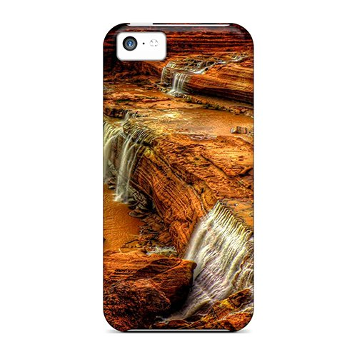 Utj7702Wdlo Snap On Case Cover Skin For Iphone 5C(Step Slope Falls)