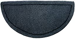 UniFlame Gray Hand-Tufted Hearth Rug