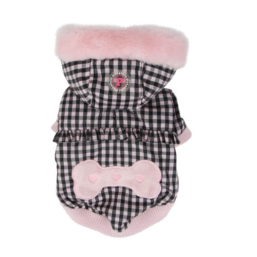 Pinkaholic New York Witty Winter Coat for Dogs, X-Large, Pink