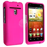 Snap-on Rubber Coated Case for LG VS910 Revolution, Hot Pink