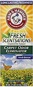 Arm & Hammer Fresh Scentsations Carpet Odor Eliminator, Fresh Breeze, 30 Ounce (Pack of 6)
