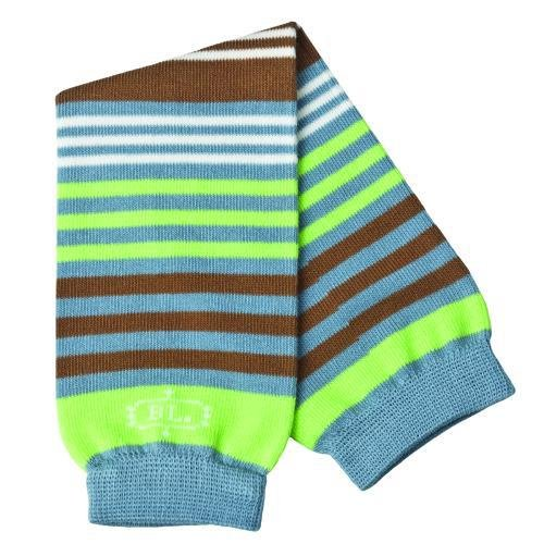 Terra Stripe Bablegs Baby Leg Warmers Ble Brown Green Stripe - 1