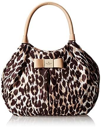 kate spade new york Veranda Place Nylon Karen Shoulder Bag,Leopard,One Size