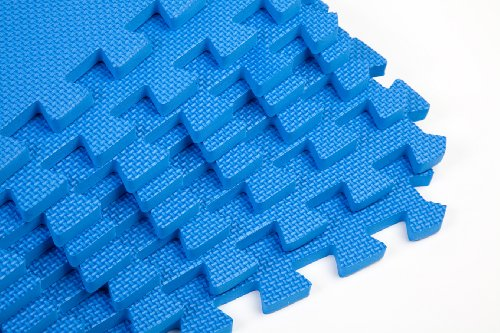 Gym Mats Blue 64sq ft