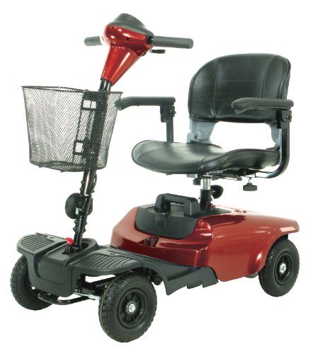 Drive Medical Bobcat 4 Wheel Compact Scooter, Red