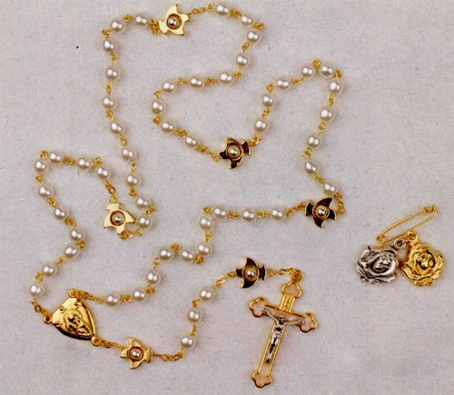 Reconciliation Rosary - 18in. Gold Plated Chain - Solid Construction - IMPORTED FROM ITALY
