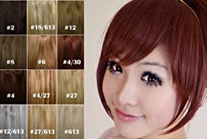 X&Y ANGEL Girl's One Piece Hair Extensions Fashion Front Fringe Bangs/fringes Clip In On (#350(light cooper))