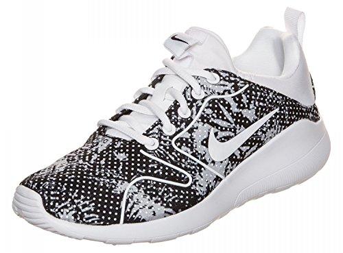 Nike Wmns Kaishi 2.0 Print Scarpe da Ginnastica, Nero (Black/White/White), 38