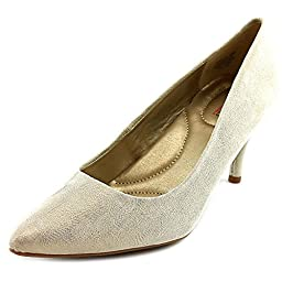 Bandolino Inspire Womens High Heel Pumps Shoes Gold Leather 8