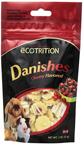 eCotrition EC-84211 2-Ounce Danishes Animal Treat, Small, Cherry Flavored 51xyHwW369L