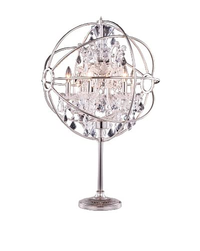 Urban Lights Hemisphere Table Lamp, Nickel