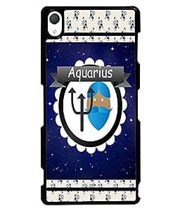 Fuson 2D Printed Sunsign Aquarius Designer back case cover for Sony Xperia Z2 - D4434