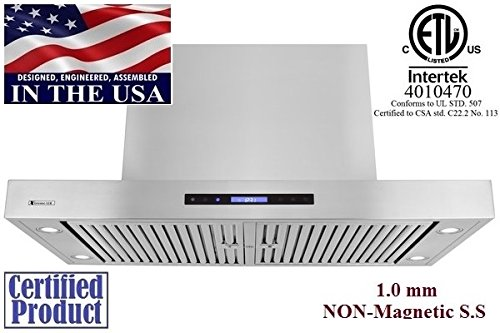 Contemporary Range Hood front-22535