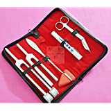 Set of 5 pcs Reflex Percussion Taylor Hammer + Penlight + Tuning Fork C 128 C 512 + Bandage Scissors 5.5