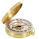 Camping Hiking Portable Pocket Watch Flip-Open Compass Outdoor Navigation Tools - Gold