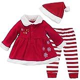 CREDIBLE クリスマス ベビー サンタクロース 女の子 コスチューム 4点セット (ワンピース、帽子、タイツ、オリジナルバッグ) 80cm XB0008