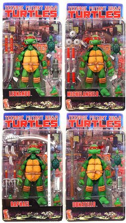 Picture of NECA Teenage Mutant Ninja Turtles NECA Comic Style Set of all 4 Turtle Action Figures (B0017U07RS) (TNMT Action Figures)