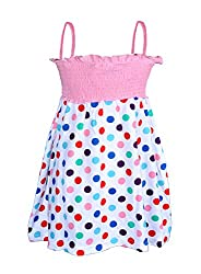 Lil Orchids Polka Dots Printed Girls Casual Dress