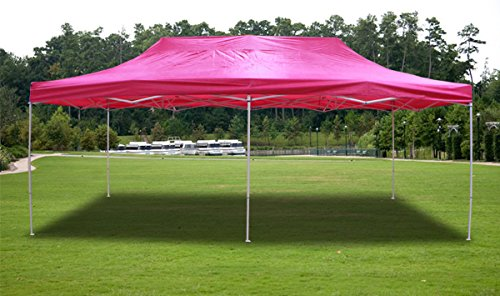 New Pink Deluxe Ez Up Canopy Pop Up Tent 20' X 10' Gazebo Sun Shade front-98662