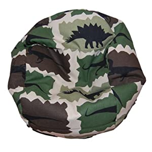 ahh products dinosaurs camouflage bean bag chair for dolls toys games. Black Bedroom Furniture Sets. Home Design Ideas