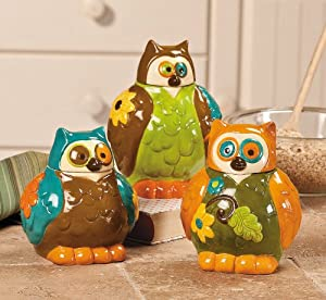 Http Www Amazon Com Owl Canisters Jars Kitchen Decor Dp B00ew7hg0y