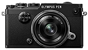 Olympus PEN F Camera - Black (17 mm Lens)