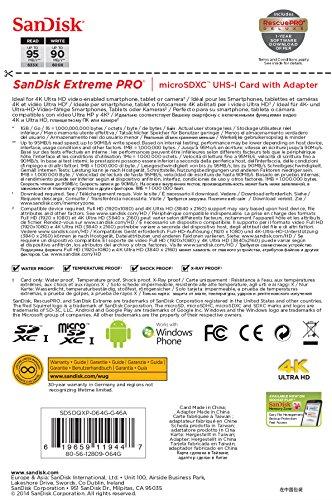 SanDisk-Extreme-Pro-64GB-MicroSDXC-Class-10-(95MB/s)-UHS-1/U3-Memory-Card