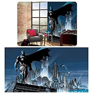 RoomMates JL1067M Batman Full Size Prepasted Wall Mural, 9-by-15-Feet