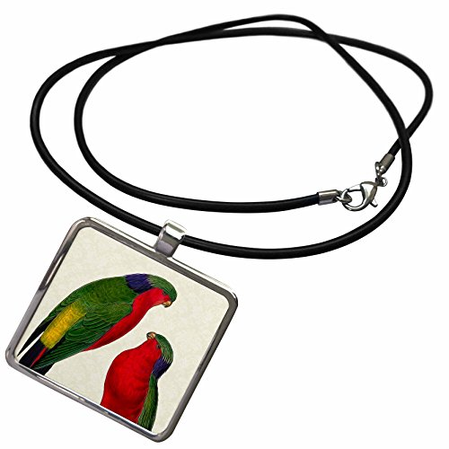 Lorikeet Necklace With Rectangle Pendant