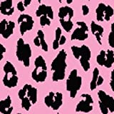 Locker Lookz Black Leopard on Pink Background Wallpaper