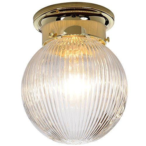 Royal Cove 671340  Surface Mount Ceiling Fixture, Polished Brass, 6 X 7-1/8 In.