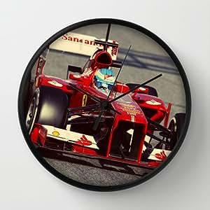 Designer Wall Clock Ferrari Alonso F1