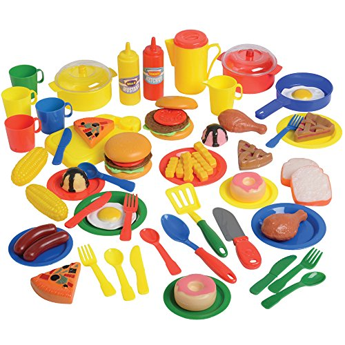Meals & More - Includes Food, Dishes, & Cookware 69 pc. Set (Toy Dishes And Food compare prices)