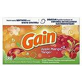 Gain Dryer Sheets-Apple Mango Tango, 105 Count