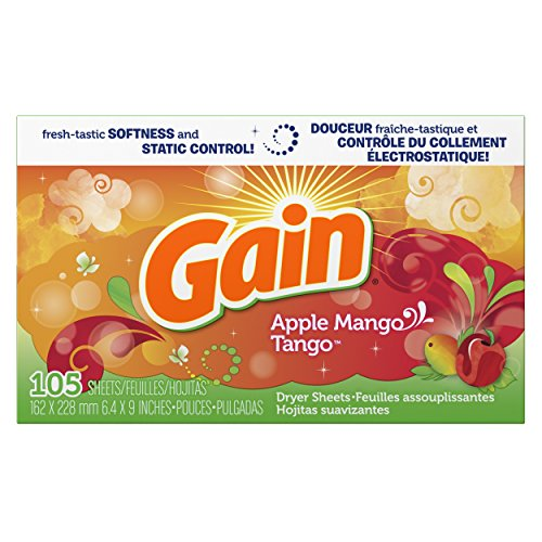 Gain Dryer Sheets-Apple Mango Tango, 105 Count (Gain Fabric Softener Sheets compare prices)