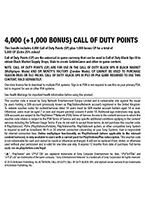 4,000 (+1,000 Bonus) Call of Duty Points [PS4 PSN Code - UK account] by Activision