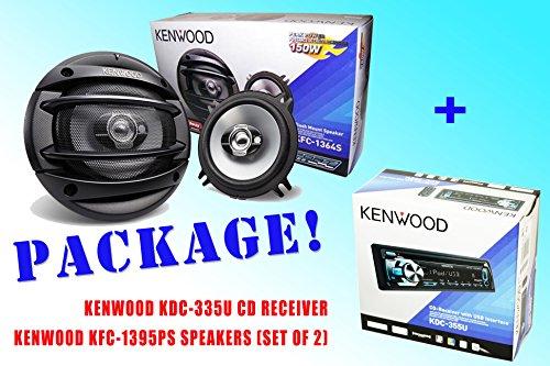 Package ! Kenwood Kdc-335U Cd-Receiver + Kenwood Kfc-1364S Car Speakers