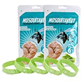 All Natural Mosquito Repellent Bracelets - Value Pack Twelve (12) Pack (2 Packs of 6) - Deet Free - Deters Bugs for Hours - Natural Oil Bug Repellent - Kid Safe Bracelet - Perfect for Travel