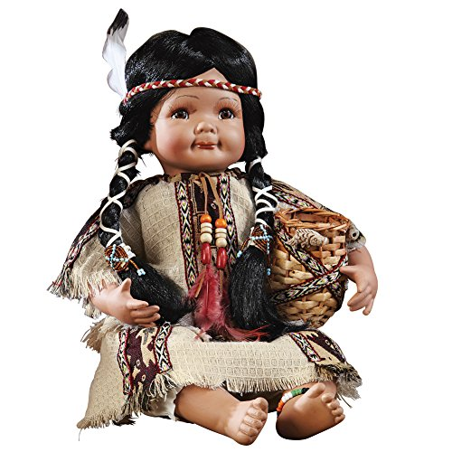 Collections Etc Indian Southwest Collectible Porcelain Doll