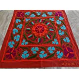 Handicraftofpinkcity Suzani Embroidered Tapestry Suzani Embroidered Wall Hanging Suzani Embroidered Table Runner...