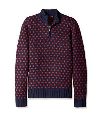 J. McLaughlin Men's Jacquard Downhill Fleur-De-Lis Sweater