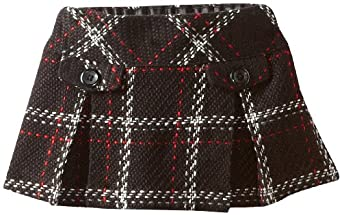 Hartstrings Baby-Girls Infant Boucle Skort, Black Plaid, 12 Months